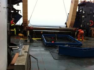 Methot Net Lying on Trawl Deck