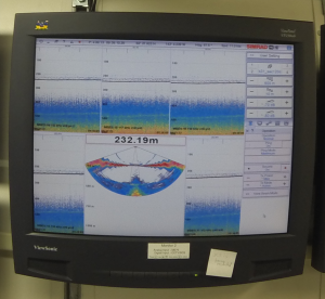 Jodi monitors the screen during ME70 activity.