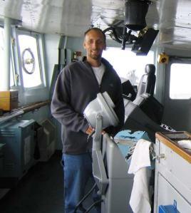On the bridge, exploring the ship