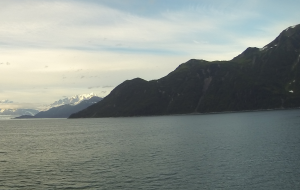 Nearby Hubbard Glacier with no snow or ice