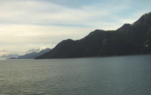 Nearby Hubbard Glacier with no snow or ice