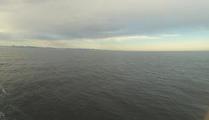 The ocean with no glacial runoff.