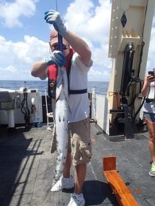 Cliff weighs a Barracuda.