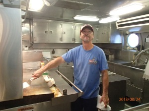 Chief Steward Walter Coghlan keeps everyone well fed.