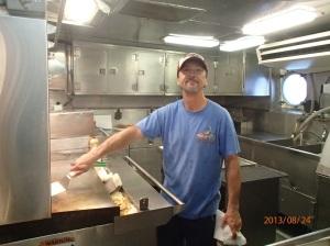 Chief Steward Walter Coghlan keeps everyone well fed.