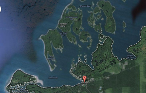 Monti and Sea Otter Bays Map by GoogleEarth
