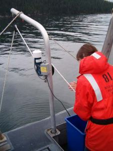 TAS Wally pulling up the SEACAT CTD