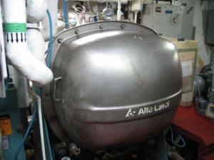 One of the two evaporators on the NOAA ship RAINIER which processes salt water into fresh water