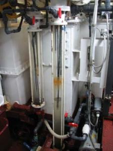 The Marine sanitation Device (MSD) which treats the sewage produced aboard the NOAA ship RAINIER