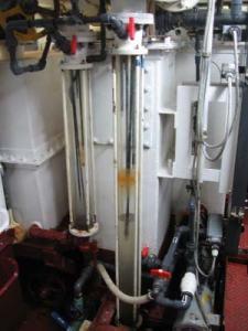 The Marine sanitation Device (MSD) which treats the sewage produced aboard the NOAA ship RAINIER