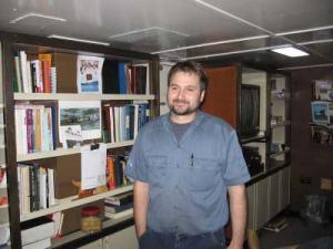 RAINIER's First Assistant Engineer, Glen Quintino