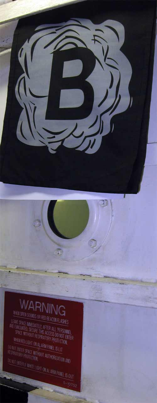 Just one of the props used in training scenarios. This flag indicates black smoke.