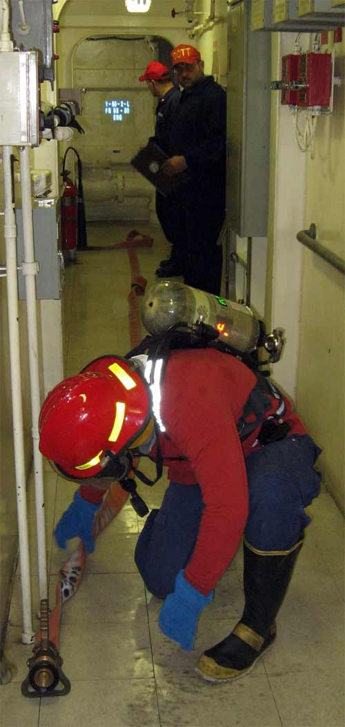 Similar to an initial response team, specialists work to ensure safety