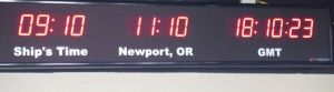 What's your time zone?  GMT stands for Greenwich Mean Time.  It is also the UTC time standard we use.