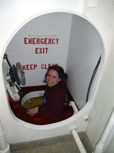 Starla Robinson leads us down the hatch into the cofferdam