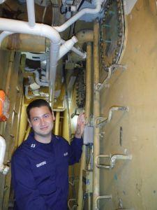 Lt. Quintero in the cofferdam.