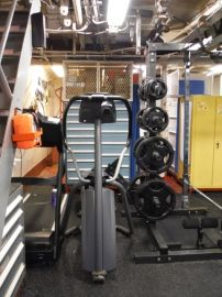 Here's some of the exercise equipment on the ship.