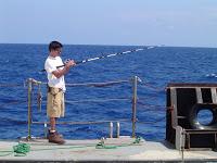 Technician Kuhio has started fishing, but reports no bites yet.