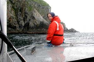 The transect traversing nearshore areas
