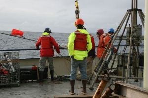 Lefting Buoy onto Knorr deck