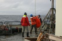 Removing float section of Sediment Trap
