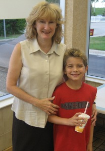 My wife Jill with grandson Rion