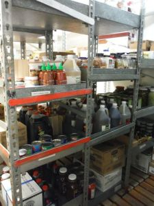 This is a glimpse of some of the supplies stored on the ship.
