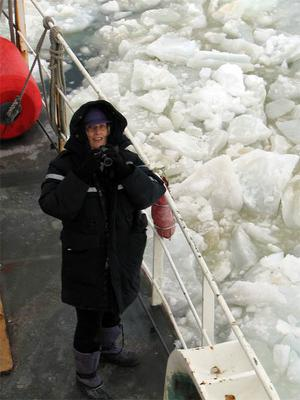 TAS Maggie observing the sea ice
