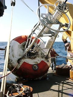 Retrieving the buoy