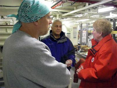Dr. Sambrotto works with two scientists, Drs. Cal Mordy and Nancy Kachel to coordinate sampling.