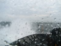 Waves washing over the bow of NOAA Ship MILLER FREEMAN