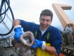 Monkfish brought up in the survey