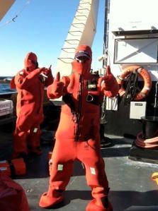 Survival suits!
