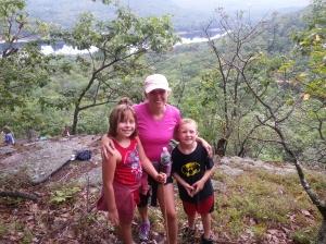kids and I hiking