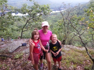 kids and I hiking