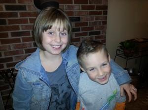 My kids, Lilly & CJ Gogan