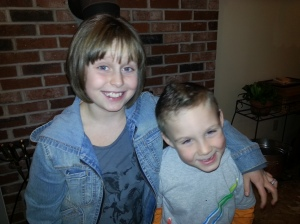 My kids, Lilly & CJ Gogan