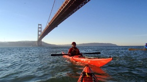 Here I am having fun with kayaking friends in California in December.