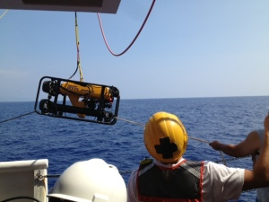 The ROV prior to deployment.