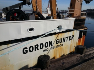 Boarding the NOAA Ship Gordon Gunter in Newport, R.I.
