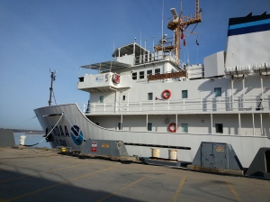Boarding the NOAA Ship Gordon Gunter.