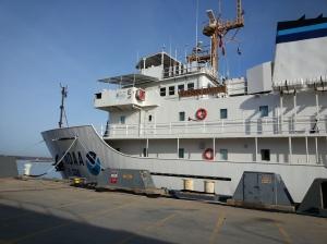 Boarding the NOAA Ship Gordon Gunter.