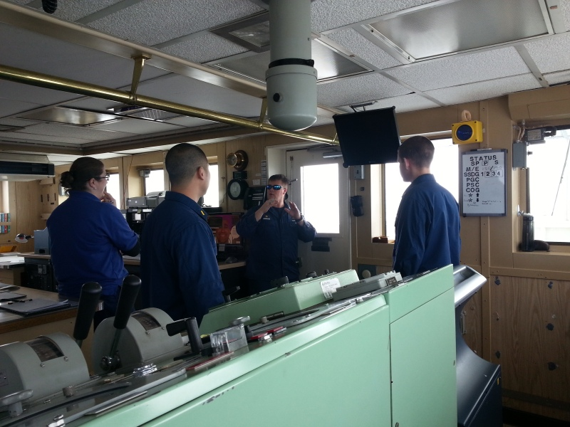 NOAA Corps officers on the Bridge