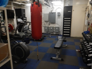 The gym aboard the ship