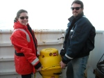 Here are Chris and Genevieve preparing to deploy the MARU.