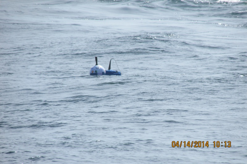 There they go! The Drifter Buoys have been set off to catch the currents!