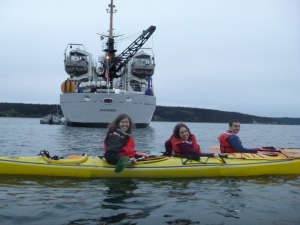 Reconnaissance by Kayak. Photo by Joseph Jones