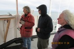 Mike and Erik on the fly bridge as we  were coming into the Cape Cod canal.