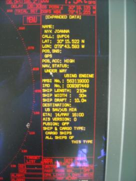 Okeanos Explorer AIS screen