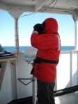 Nick on his Birder watch, always on the look out!